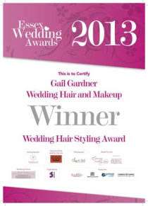 2013 Essex Wedding Awards Winner - Hair and Makeup