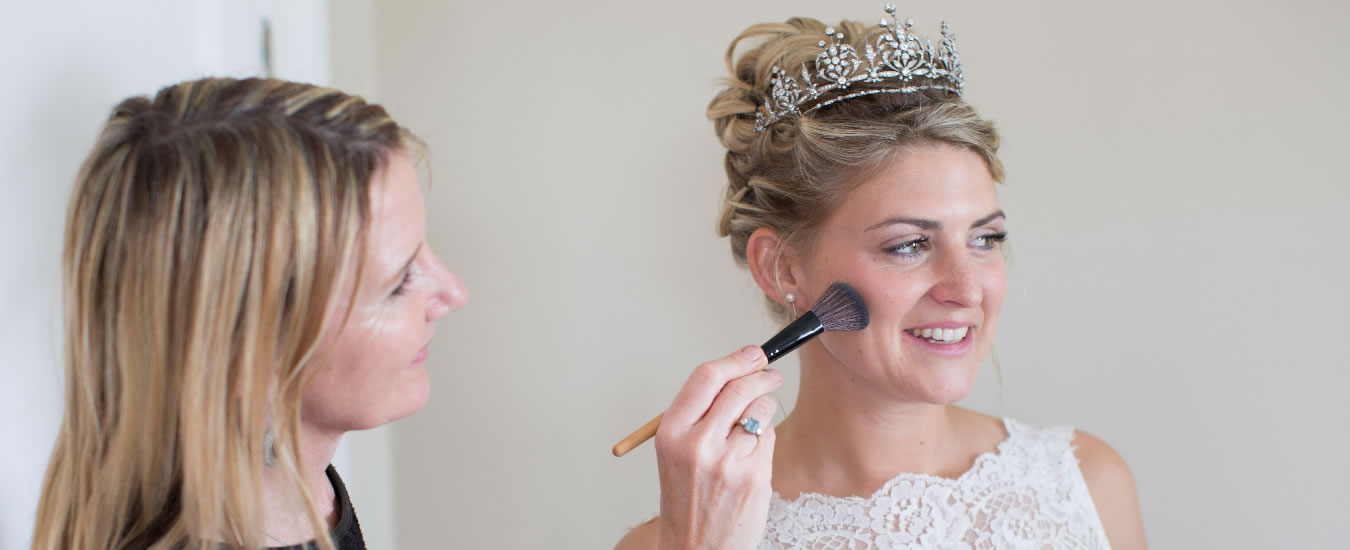 Gail Gardner doing a brides makeup